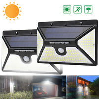 218 LED Solar Power PIR Motion Sensor Wall Light Outdoor Garden Light Waterproof