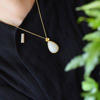 necklaces for women - minimalism necklace - precious stones necklace - jade necklace pendant - necklaces for women gold - Pendant Necklace