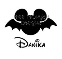 Personalized Bat Halloween Mickey Mouse Disney iron on decal for shirt. $7.00, via Etsy.