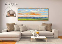 Gold art Acrylic Abstract Original painting on canvas art large wall art painting wall pictures palette knife home Decor cuadros abstractos $129.00