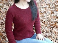 Brick is a simple, basic pullover perfect as your everyday sweater.Free pattern