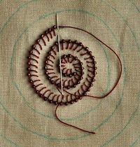 Buttonhole Stitch with Beads