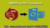 ZOOK MBOX to PST Converter is only made for the conversion of MBOX to PST Files. More Info:- https://www.youtube.com/watch?v=mCdG0xJYM1U