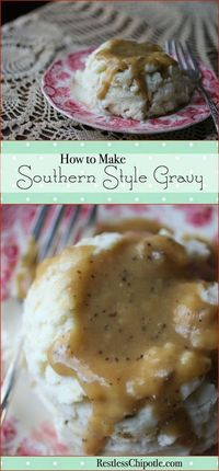 Learn how to make gravy perfect every time! There's nothing like homemade southern style gravy! SO rich and creamy!