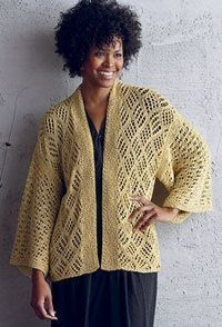 """Knit jackets are one of my favorite things, and a knit kimono?�€""""even better! Re-Su Katabira by Vicki Square The timeless shape of kimono is so beautiful and flat"""
