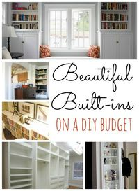DIY Built Ins~ love every idea!
