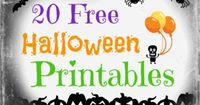 FREE Halloween Printables including Halloween crafts for kids and more