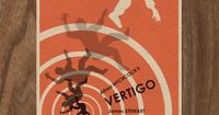 """""""Vertigo"""" modern movie poster by Monster Gallery, limited edition 6'x4' print for $5. This designers whole movie poster collection is amazing, lots of Alfred Hitchcock and Wes Anderson awesomeness."""