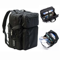 Men Anti-theft Briefcase Expandable Multi-pocket Waterproof Laptop Bag Large Capacity Backpack