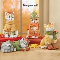 Fall Cat Sitters - Set of 4 $14.95