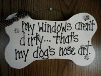 Dog Pet Sign Dog sign Window Nose Art by kpdreams on Etsy, $10.00