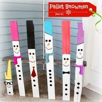 Turn a broken pallet into a unique snowman decoration easily with this handy how to!