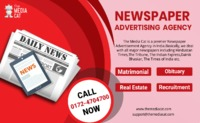 Newspaper Advertising Agency is a powerful platform that assists to publish your Advertisement in Newspaper. TheMediaCat is uniquely positioned help you to grow your business with Newspaper Advertisement and successfully reach your target audience. For an...