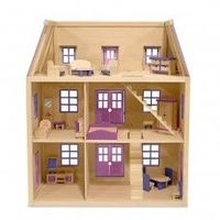 http://dollhousesstore.com/dollhouses/finished/multi-level-wooden-doll-house-w-furniture