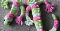 "Gecko Frecko �€"" super crochet animal in a spiral with no slipstitch at the end of the round. Below you will find written precise pattern in PDF with step by step"