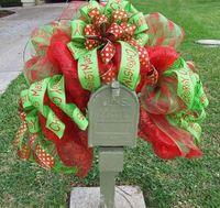 Deco Mesh Mailbox Swag Deco Mesh Christmas Mailbox by LuxeWreaths
