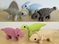 Dinosaurs Sets 3 & 3X - six amigurumi PDF CROCHET PATTERNS