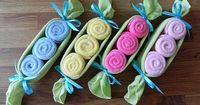 Baby Washcloth Pea Pod by BabyBinkz - use coupon code PIN10 for 10% off any order!