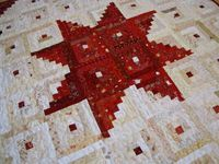 Modern Log Cabin Star Quilt or Wallhanging by ksdesigngirls, $150.00