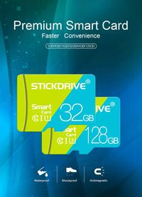 StickDrive 8GB 16GB 32GB 64GB 128GB Class 10 High Speed TF Memory Card With Card Adapter For Mobile Phone iPhone Samsung Tablet GPS Camera Car DVR