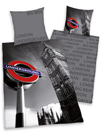 Generic London Underground and Big Ben Duvet Cover and Fantastic London themed duvet cover set. Machine washable. 100% Cotton. http://www.comparestoreprices.co.uk//generic-london-underground-and-big-ben-duvet-cover-and.asp