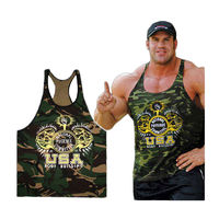 New Singlets Camouflage Tank Tops Shirt Bodybuilding Fitness Men's Golds T-shirt Stringer $12.54