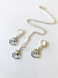 Girls sun necklace and earrings set, girls jewelry, girls gift $20.00