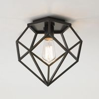 """This Young House Love diamond-shaped ceiling light has modern style. Use it with a vintage-style Edison bulb for a retro feel or one of our energy-saving bulbs for green living. Bronze. 60 watts max (medium base socket). 5.25"""" pentagon canopy..."""