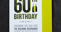 60th Birthday Invitations by Carli Foot, via Behance