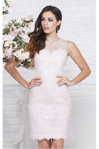 Incomparable Sheath Natural Zipper Lace Cocktail Dresses