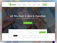 Adsiter Classified Ads PSD Template is a uniquely designed PSD template which can be used for a classified business website, online marketing business & more.