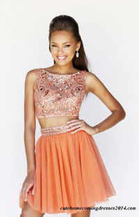 Beaded Two Pieces Homecoming Dresses Sherri Hill 11061