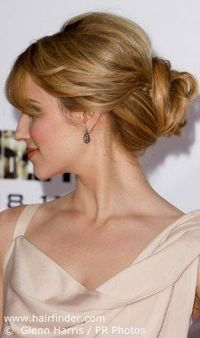 "Wedding hair ideas...another poster said"" love hidden braids- adds texture and spunk to a classic up do"""