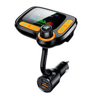 C86 QC3.0 Quick Charger Surpport 64GB USB MP3 Player Car Kit Handsfree bluetooth FM Transmitter TF AUX Audio Receiver