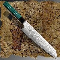 Chef Knife Laminated Damascus Steel Japanese Kiritsuke Shape Blade Home Kitchen Cooking Tool $71.00