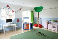 Design Chic: Not Just For Kids. Blue, green and red.
