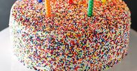 A recipe for classic vanilla bean birthday cake with a fluffy and decadent vanilla buttercream frosting (and sprinkles!).