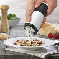 Manual Cheese pepper Mill with 2 Rechargeable Stainless Steel Blades, Grinder Grater Slicer Shredder Chocolate Grater White $27.99