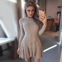Elegant O-Neck Long Sleeve Dress $35.95