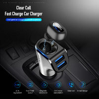 ROCK Fast Charger 3.1A Max Dual USB Output Car Charger & Bluetooth Earphone