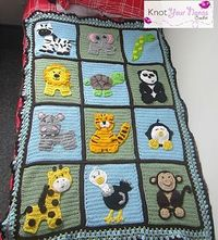 This blanket is adorable, too bad I'd never have the patience to do something like this. Ravelry: Zoo Blanket Applique Set - patterns