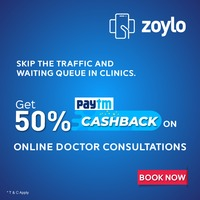 Zoylo a well-known digital healthcare platform, has brought the biggest offer on online doctors consultation, India with 50% Paytm cashback.