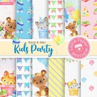 Baby Party Digital Paper, Blue, Grey, Baby Party, Digital Paper, Scrapbook Paper,Digital Paper,Scrapbook Paper,Baby Boy Digital Paper Pack $7.00