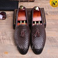 [Custom Gift] CWMALLS® Sydney Hand-Woven Leather Tassel Loafers CW708118