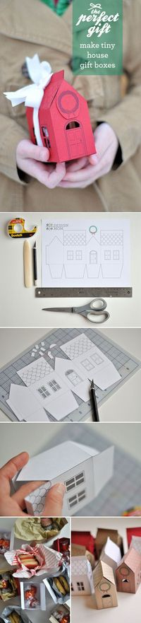 House Gift Box, free printable template download