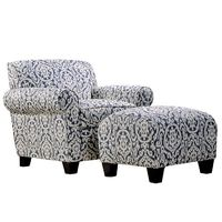 Wilmette Accent Chair & Ottoman Set//