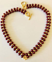 Beaded necklace, hand woven necklace, woman's gift $26.00