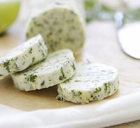 This cilantro lime butter is a great topper for corn on the cob.