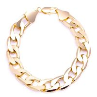 MEN'S LUXURY 14K GOLD PLATED 13MM BLING SOLID CHUNKY CURB BRACELET Colour: Gold Material: Brass Technique: This product looks & feels like a real piece of gold jewellery Special Features: This product has been SPECIALLY MANUFACTURED to LOOK ...