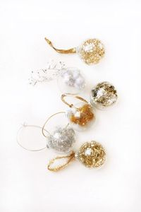 How to make DIY Fancy Filled Ornaments for your Christmas tree.